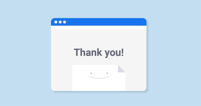 Страница благодарности «Thank You Page»